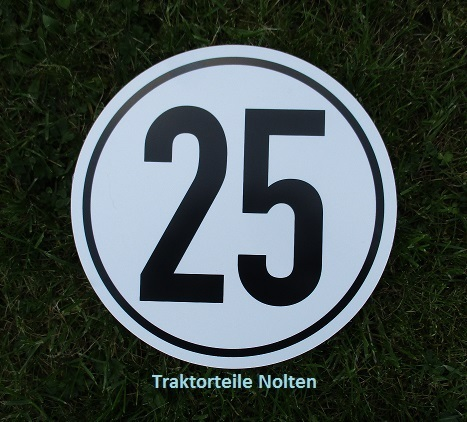 SPAREX® Kilometerschild Pvc 25 Km//h